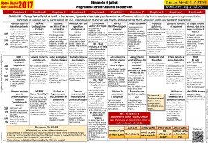 Programme complet dimanche 9